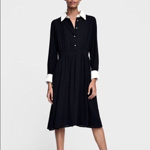 Zara black contrasting dress
